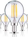 5pcs 4W 360 lm E14 Bec Filet LED G45 4 led-uri COB Decorativ Alb Cald Alb Rece AC 220-240V