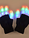 youoklight 1w 6-läge blinkande finger ledde färgglada handskar present 1pair