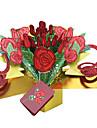 Pliat lateral Invitatii de nunta-Invitații pentru Botez Stil Floral Hârtie Reliefată