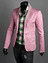 Bărbați Stand Blazer Muncă Plus Size Simplu,Mată Manșon Lung Primăvară Toamnă-Regular Bumbac