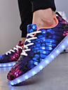 Damă Pantofi Plasă Toamnă Iarnă Pantofi Usori Pantofi vulcanizați Adidași Dantelă LED Pentru Casual Mov Verde Albastru