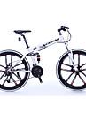 Hopfällbar Cykel Mountainbikes Cykelsport 21 Hastighet 26 tum/700CC Shimano Dubbel skivbroms Suspension Fork Aluminium Aluminum Aluminum