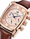 Bărbați Ceas La Modă Ceas de Mână Unic Creative ceas Japoneză Quartz Calendar Cronometru Piele Autentică Bandă Lux Casual Cool Maro