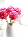 6 clor 1branch verde minge ceapa artificiale flori 5 ramura