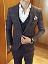 Bărbați Guler Cămașă Mărime Plus Size Regular Costume Zilnic Muncă Simplu Vintage Casual, Houndstooth Primăvară Toamnă Poliester