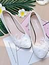 Femme Chaussures Dentelle / Similicuir Printemps / Automne A Bride Arriere Chaussures de mariage Talon Cone / Talon Bas Bout pointu /