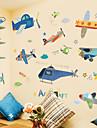 Transport Väggklistermärken Väggstickers Flygplan Dekrativa Väggstickers, Plast Hem-dekoration vägg~~POS=TRUNC Vägg