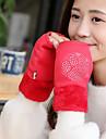 Damă Solid Iarnă Accesorii Casual Mănuși de Iarnă Keep Warm Modă Lână Blană de Iepure PU,Lungime Încheietură Jumătate de Deget