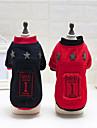 Chien Sweatshirt Vetements pour Chien Britannique Noir / Rouge Polaire Costume Pour les animaux domestiques Decontracte / Quotidien / Garder au chaud