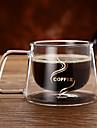 Dryckes Glas Mugg dubbel Vägg Värmeisolerad 1pcs