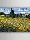 HANDMÅLAD Landskap Horisontell, Ny ankomst Duk Hang målad oljemålning Hem-dekoration En panel