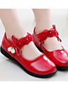 Fete Pantofi Imitație de Piele Primăvară Toamnă Confortabili Pantofi Fata cu Flori Pantofi Flați Pentru Casual Alb Negru Rosu Roz