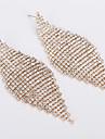 Pentru femei Zirconiu Cubic Cercei Picătură Ștras cercei Bijuterii Auriu / Argintiu Pentru Nuntă Petrecere