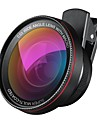 2 în 1 profesionale hd obiectiv camera kit 0.6x super-unghi larg obiectiv 10x macro obiectiv universal clip-on lentilă telefon mobil