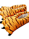 Chaussons Kigurumi Tiger Combinaison de Pyjamas Costume Polyester / Coton Orange Cosplay Pour Adulte Pyjamas Animale Dessin anime