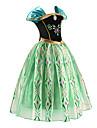 Prinsesse Eventyr Cosplay Kostumer Jente Film-Cosplay Groenn Kjole Halloween Nytt AAr Chiffon Bomull