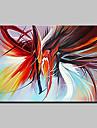 Hang målad oljemålning HANDMÅLAD - Abstrakt Abstrakt Moderna Duk