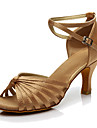 Kadın\'s İpek Latin Dans Ayakkabıları Topuklular Kişiye Özel Kişiselleştirilmiş Siyah / Kahverengi / Çıplak / Performans