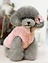 Kat Hond Kerstmis Hondenkleding Effen Beige Fuchsia Roze Katoen Kostuum Voor Lente & Herfst Winter Jurken en rokken Casual / Dagelijks Opwarm Kleding