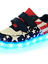 Băieți Pantofi Piele Primăvară Confortabili / Noutăți / Pantofi Usori Adidași Bandă Magică / LED pentru Albastru