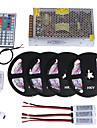 HKV Ljusuppsättningar 1200 lysdioder RGB Klippbar Bimbar Färgskiftande Självhäftande Kopplingsbar DC 12V DC 12 V