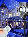 julledde snöfall projektor ljus tofu roterande vattentät vit snöflinga fairy landskap projektionslampor med trådlös fjärrkontroll för