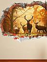 Animale Perete Postituri Autocolante perete plane Autocolante de Perete Decorative 3D,Hârtie Material Pagina de decorare de perete Decal
