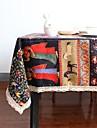 Dreptunghiular Pătrat Stil Boem Fețe de masă , Amestec In / Bumbac Material Acasă Hotelul masă Tabelul Dceoration Decorațiuni de Casă 1