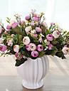 10 huvuden mångfärgad tusensköna lilla te ros konstgjorda blommor bordplatta blomma