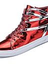 Bărbați Pantofi PU Iarnă Toamnă Confortabili Adidași Dantelă pentru Casual În aer liber Negru Argintiu Rosu