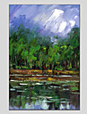 HANDMÅLAD Landskap Moderna En panel Kanvas Hang målad oljemålning For Hem-dekoration