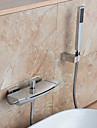 Nutida Väggmonterad Vattenfall Handdusch inkluderad Krom, Badkarskran