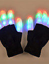 LED-belysning LED-hansker Jul Ferie Lighting Fingertupper Voksne Leketoey Gave 2 pcs