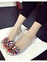 Damă Pantofi Piele PVC Primăvară Vară pantofi transparent Sandale Pentru Casual Alb Negru Galben Deschis