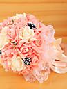Une succursale Soie Mousse de polystyrene Roses Fleur de Table Fleurs artificielles 26 x 26 x 30(10.24\'\' x 10.24\'\' x 11.81\'\')