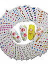 30pcs Dekaler / Set / 3D Nail Stickers Nail Stamping Mall Dagligen Mode
