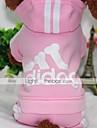 Chien Manteaux Pulls a capuche Combinaison-pantalon Vetements pour Chien Decontracte / Quotidien Couleur Pleine Gris Jaune Rouge Rose