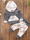 Fete Seturi Floral Bloc Culoare Bumbac Poliester Toamnă Primăvară, toamnă, iarnă, vară Manșon Lung Set Îmbrăcăminte