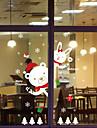 Crăciun Perete Postituri Decals Autocolante de Perete Decorative, Material Impermeabil Pagina de decorare de perete Decal Perete