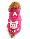 Hund Huvtröjor Hundkläder Gulligt Håller värmen Tecknat Svart Ros Kostym För husdjur