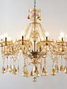 Traditionnel/Classique Cristal Ajustable Style Bougie Lustre Lumiere d'ambiance Pour Salle de sejour Chambre a coucher Magasins/Cafes