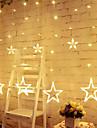 stele luminile cortina 8 moduri cu 12 stele 138 LED-uri impermeabile cu lanternă cortină lumini șir de lumină