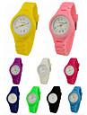 Wrist Watch Quartz Silicone Black / White / Blue Casual Watch Analog Ladies Charm Casual - Green Pink Light Blue