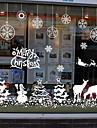 Crăciun Perete Postituri Autocolante perete plane Autocolante de Perete Decorative, Vinil Pagina de decorare de perete Decal Geam