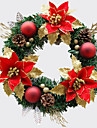 noel couronne aiguilles 1 couleurs de pin decoration de Noel pour un diametre de partie a la maison 30cm   nouvelles fournitures