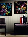Kanvas Tryck Moderna, Två paneler Duk Fyrkantig Tryck väggdekor Hem-dekoration