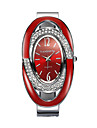 Damen Uhr Armband-Uhr Simulierter Diamant Uhr Diamond Watch Quartz Legierung Schwarz / Silber / Rot 30 m Imitation Diamant Analog damas Glanz Armreif Modisch Elegant Weiss Schwarz Rot