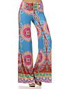 Pentru femei Boho Picior Larg Pantaloni - Imprimeu, Geometric