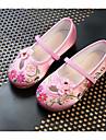 Fete Pantofi Mătase Primăvară / Toamnă Confortabili Pantofi Flați Plimbare Imprimeu Animal pentru Piersică / Rosu / Roz