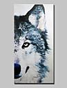 HANDMÅLAD Djur Vertikal, Djur Moderna Duk Hang målad oljemålning Hem-dekoration En panel